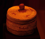 Makah basket made from 'sweet grass' and western redcedar bark.
