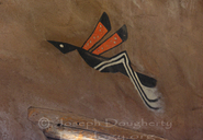 Hopi mural, reproduction of petroglyph of a mosquito; Desert View Indian Tower, Grand Canyon National Park.