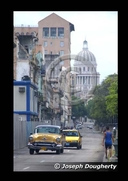 Looking up the Prado to the Capital building in Havana.