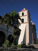 Bell tower of Mission Santa Barbara