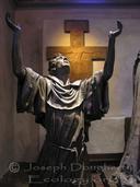 Statue inside the cathedral at Mission Santa Barbara