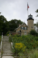 White River Lighthouse, on the eastern shore of Lake Michigan.