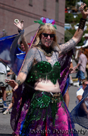 Bellydancers; 4th of July Parade in Truckee.