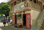 Beachside restaurant, Tobago