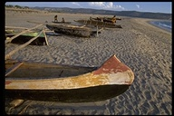 Fishing boats on the beach in Saint Augustine's Bay, Madagascar