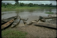 Village boat landing in Iquitos, upstream Amazon, Peru, 1996