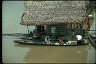 Floating home on Amazon River, Peru, 1992