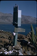 Bayside shrine at Las Animas Bay, Baja California, Mexico, 1968