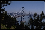 View of the Bay Bridge with San Francisco in the Background