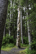 Raven / Shark Totem Pole in Sitka National Historic Park