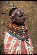 Masai native woman with beads in Kenya