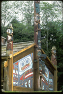 Raven Clan Potlatch House at Totem Bight State Park, Ketchikan, Alaska