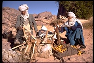 Making camp at Safar, Tassili, Algeria, 1969